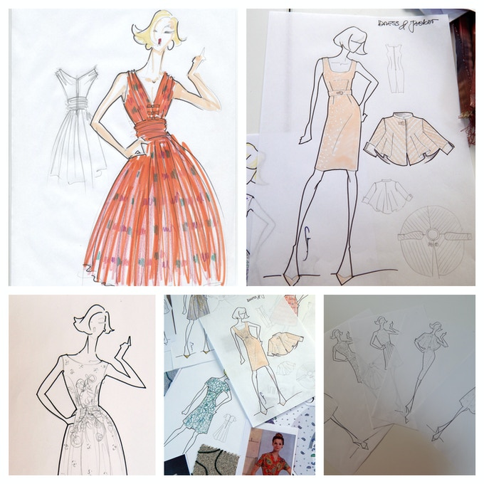 Our Designer's Original Sketches - Prints Available with Pledge.