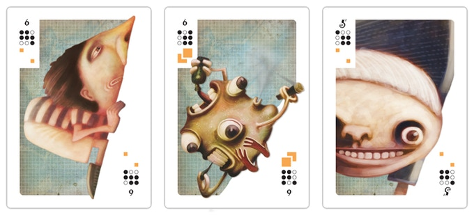 Samples of the full color Mesa cards. The full color Mesa poster will be colored in this style.