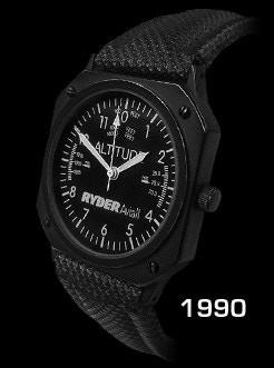 1990 Trintec Altimeter Watch w/ Ryder Aviall Logo