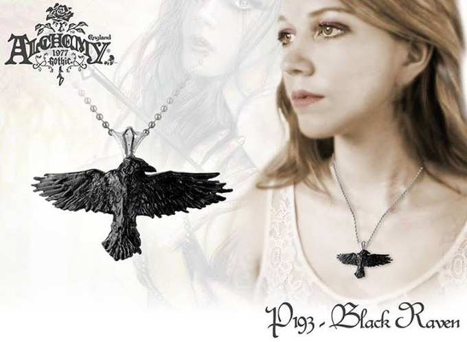 Raven necklace from Alchemy Gothic!