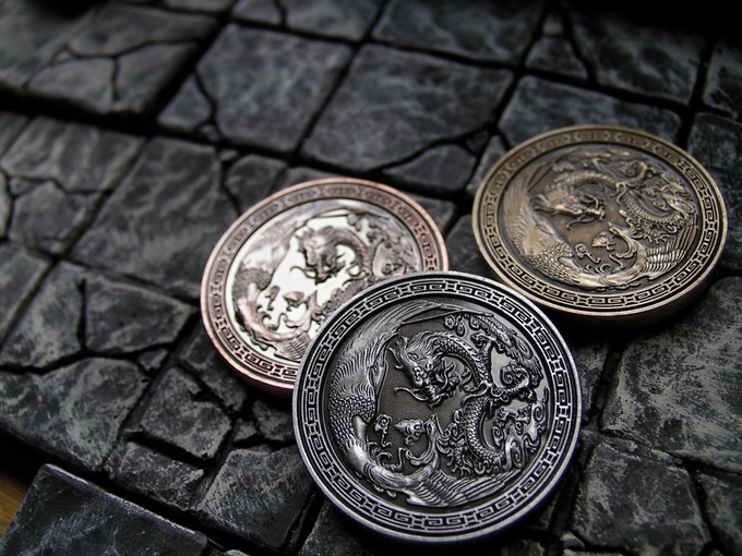 Is your gaming group heading over to a Eastern realm? Then these coins are perfect to bring in the flavour!