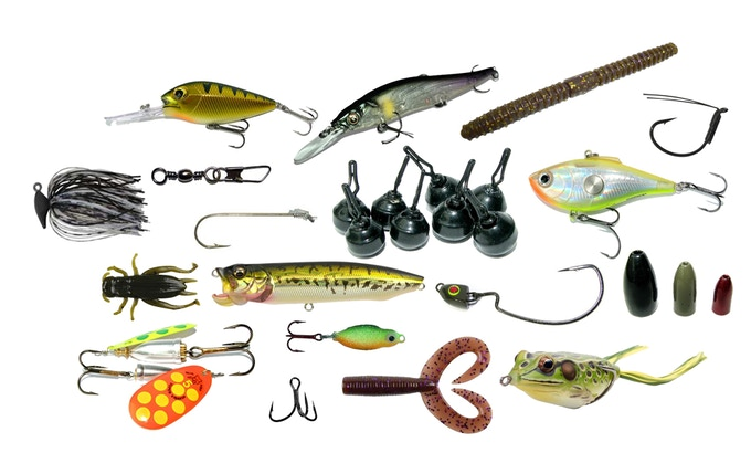 An assortment of lures and tackle to upgrade your kit