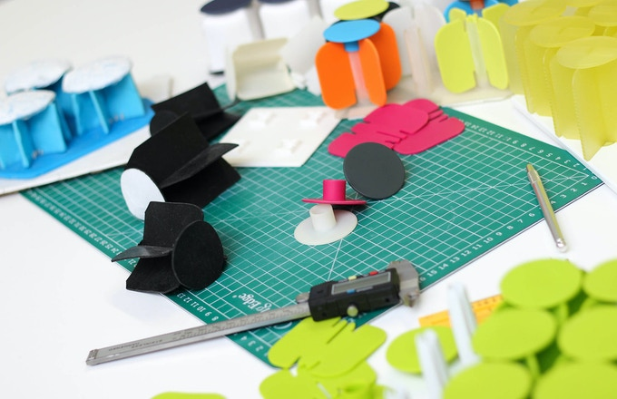Some of the prototypes produced along the road to the final design