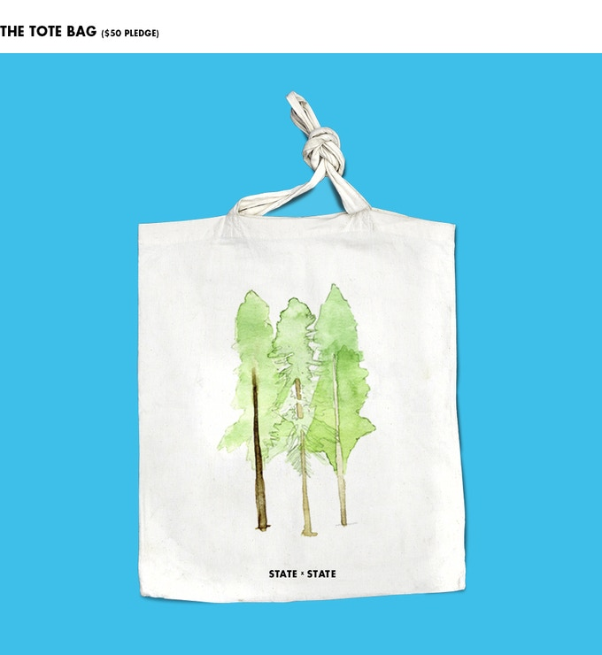 State x State tote bag