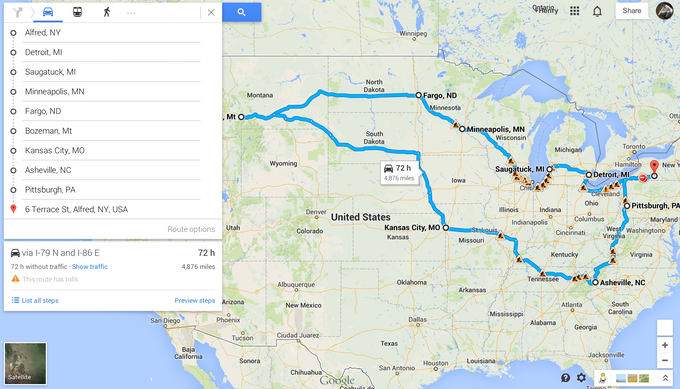 - A potential route... -