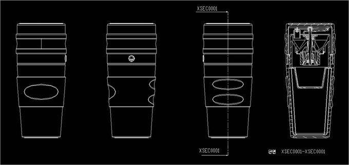 [Pic 1] Original CAD design of Cafflano All-in-one Tumbler