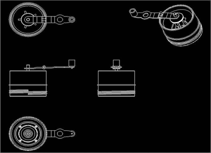 [Pic 2] Original CAD design of Grinder module