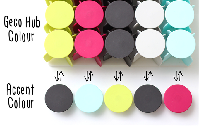 Get started customising your Geco Hub with extra discs in Accent Colours