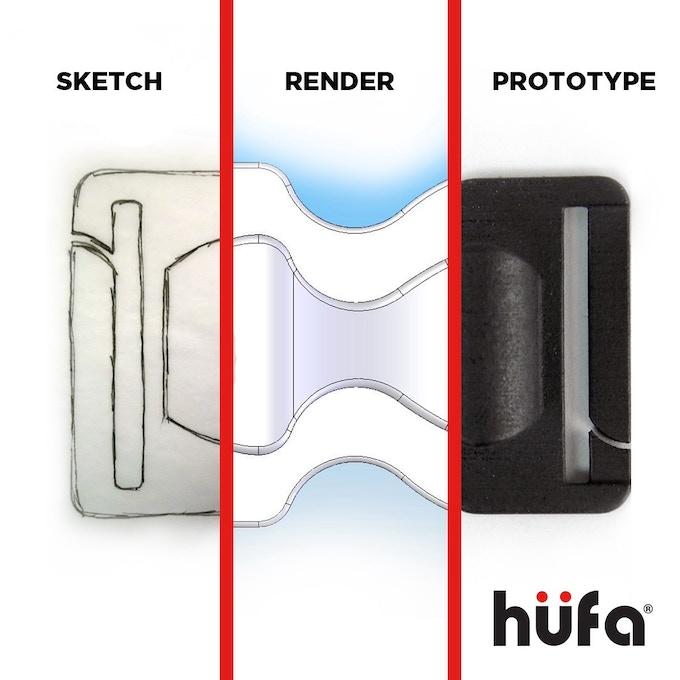 Hüfa V Prototype process collage