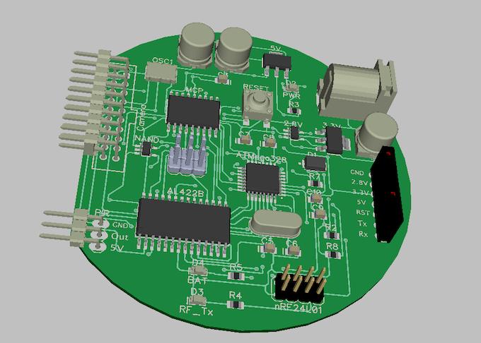 Sensor PCB Rendering