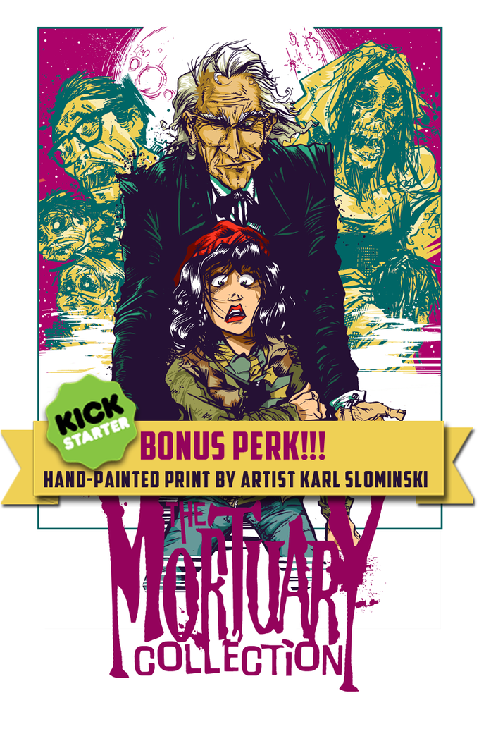 We recently added a special bonus perk! A signed and numbered original mondo-style print by the one and only Karl Slominski! Get em while they last. Once they're gone, they're gone for good!