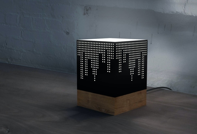 The Scratchbox Lamp with a potential design from the event