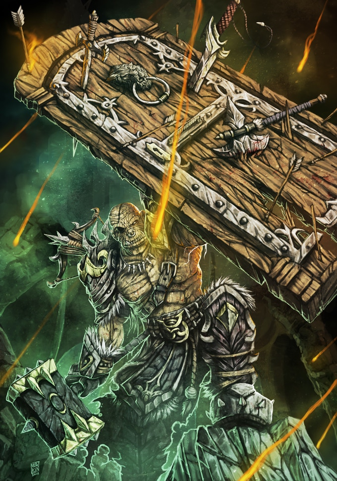The fierce captain of the all-ogre Breakers is Bolg, who once broke a horse's back with a single crushing blow from his maul, and punched out a rhino when its rider discounted the Breakers' contribution to a recent victory.