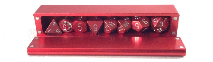 Red 7-Dice Vault Comfortably fitting 8 Dice