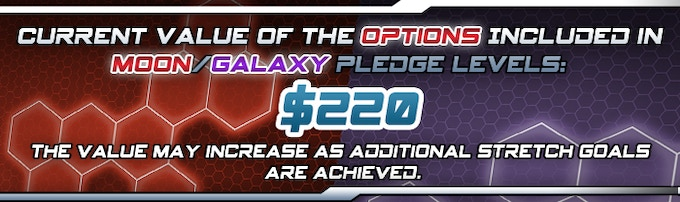 This is the total value of the options currently offered, and included in the Moon and Galaxy pledge levels, excluding the value of the Expansions and Tritium and Niobium.