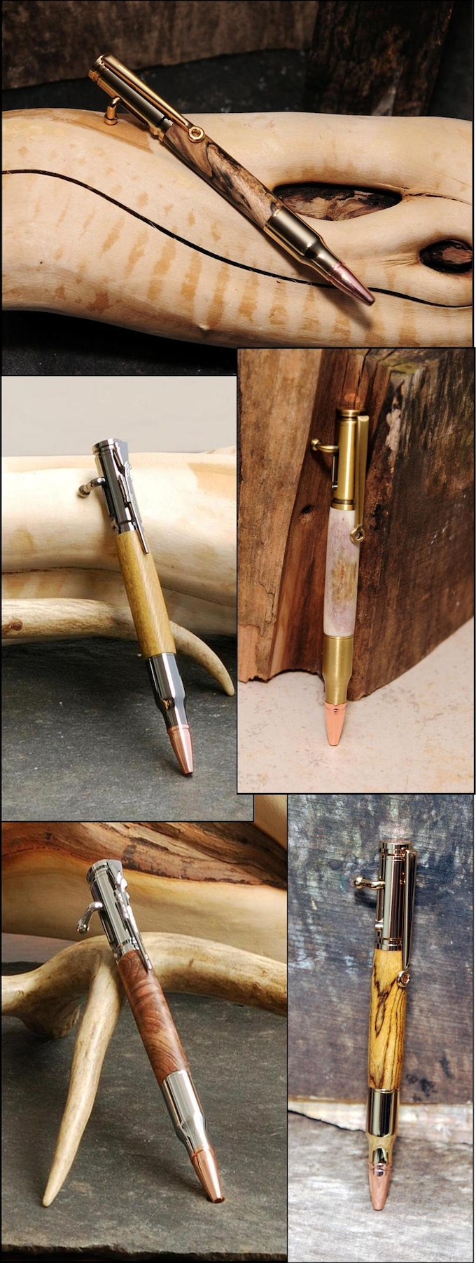 30 Cal Bolt Action Pens - Our most popular pens!