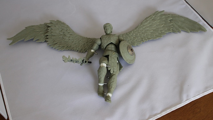 7 inch Archangel Michael action figure, with 20 inch wing span!