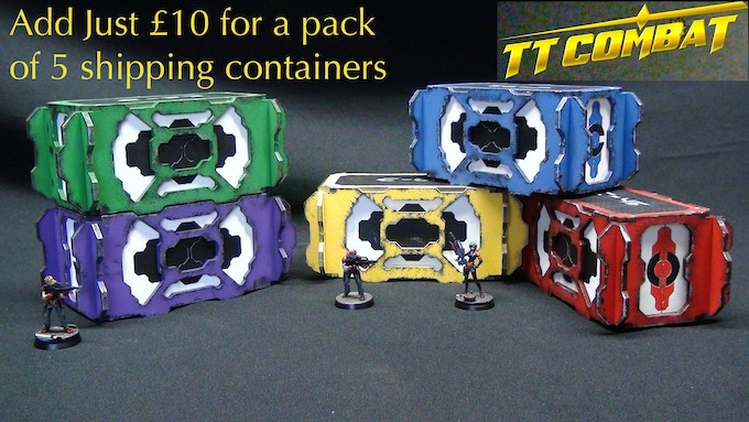 [SF2001] Shipping containers - 1.5 sheets each or pack of 5 for £10