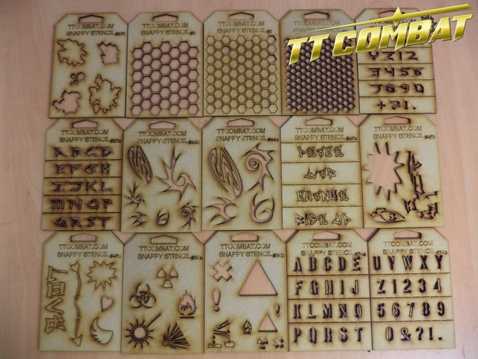 [SS2005] - 15 Snappy stencils Sci-Fi pack for just £25