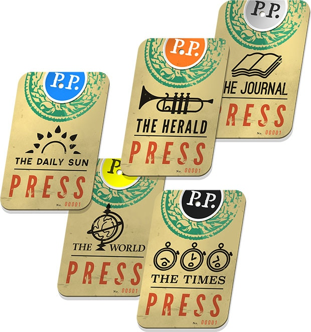 Press Passes included in every Kickstarter copy!