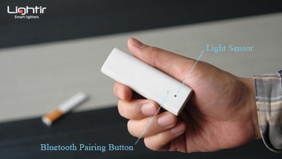 Lightir has Bluetooth pairing button (Multifunctional) and light sensor in the back.