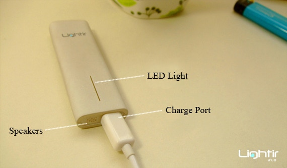 Lightir has a MicroUSB design, and can be used with most of the mobile phone chargers.