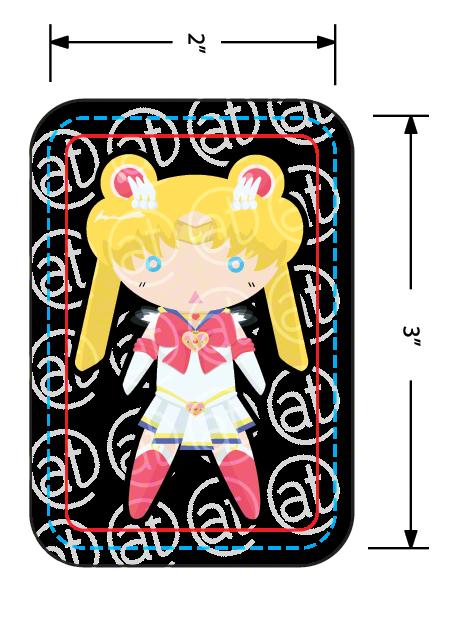 "2""x3"" Chibi Usagi Sticker. Chibi Senshi prizes will be done in this style!"
