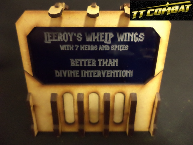 [SFU022] - Sign C (Leeroy's Whelp Wings) - Dark Blue - 1 sheet
