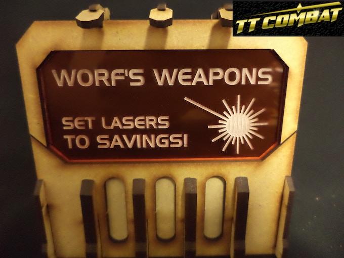[SFU027] - Sign H (Worf's Weapons) - Orange - 1 sheet