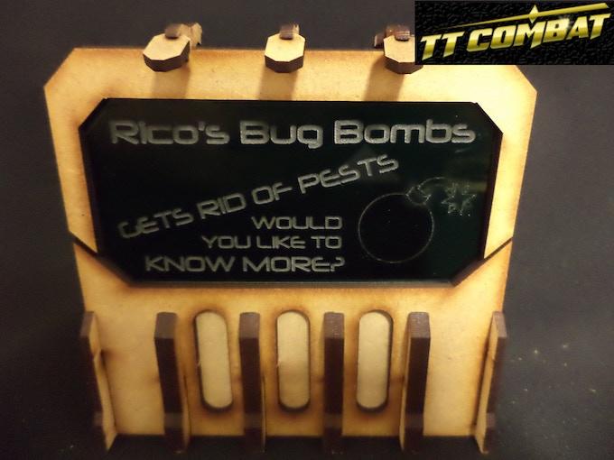 [SFU028] - Sign I (Rico's Bug Bombs) - Green - 1 sheet