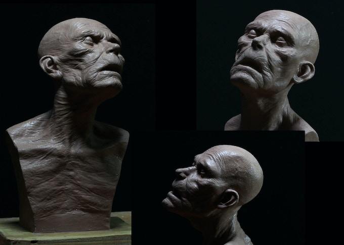 1/3 SCALE CREEPY OLD MAN Sculpted by HIROSHI KATAGIRI