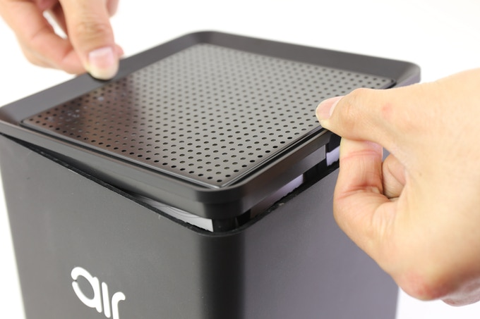 Removable lid for filter access