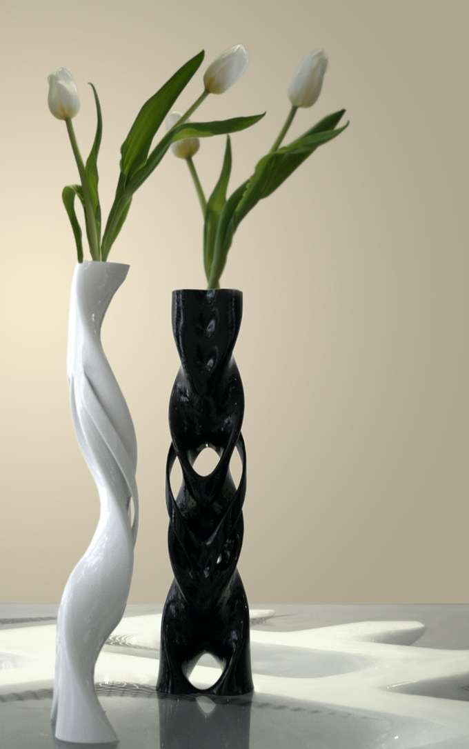 GeMo 3D print in Resin, Hand finished in Black and White