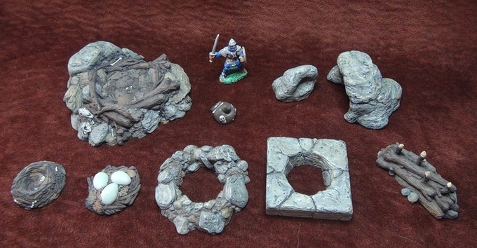 Enter The Dungeon Miniature Terrain By Griffin Tamer