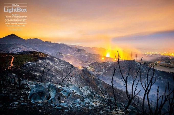 Cocos Fire Photo in Time Magazine