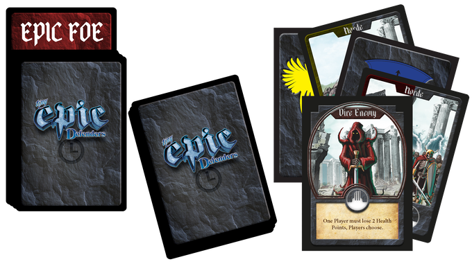 The Horde Deck acts like a timer as it feeds cards into the Turn Deck each round. As the Turn Deck evolves each round, it will be up to players to adapt with it. Learn your deck, win the game!
