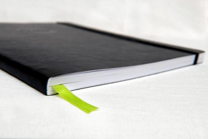 Kickstarter green book marking ribbon