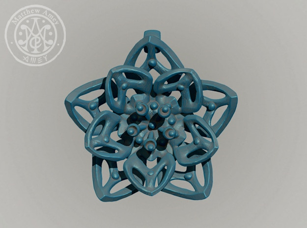 Blossom #2 - Dimensions: 1.549 w x 0.379 d x 1.539 h (inches)
