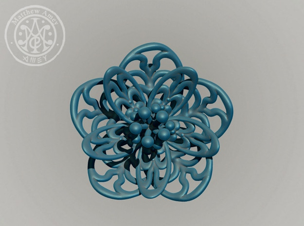 Blossom #3 - Dimensions: 1.724 w x 0.669 d x 1.683 h (inches)