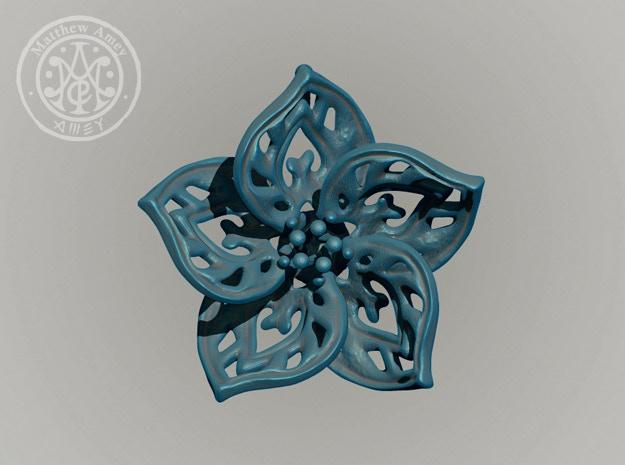 Blossom #6 - Dimensions: 1.831 w x 0.587 d x 1.784 h (inches)