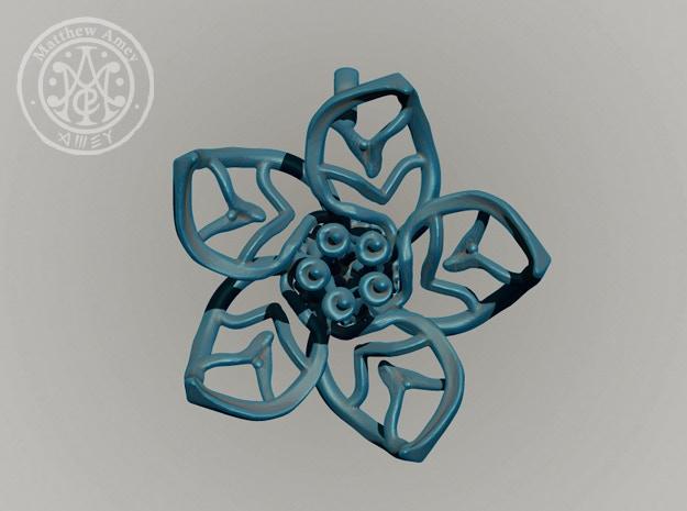 Blossom #7 - Dimensions: 1.331 w x 0.506 d x 1.391 h (inches)