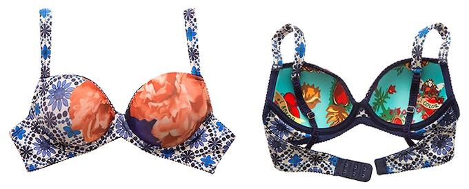 Talavera Olivia Blue bra/ Interior print