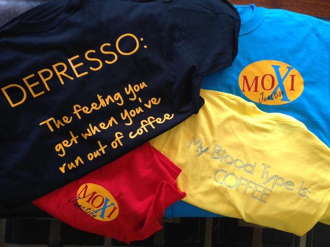Humorous Coffee Sayings T-shirts