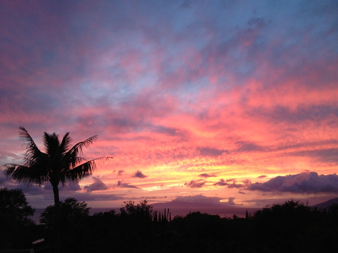Spectacular sunset from our lanai.