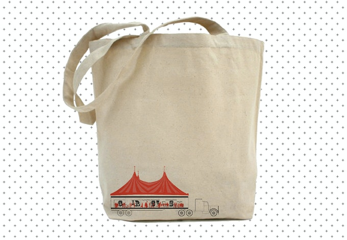 Use this tote to sling your stuff to the office, studio, or big top.