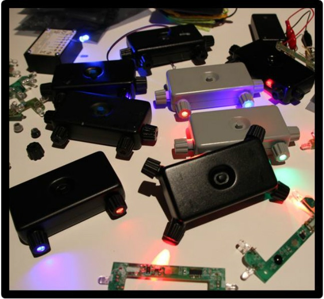Light Driver Development (Final kits in foreground, without USB port)