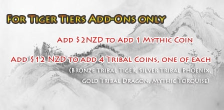Add-on only for the Tiger Pledge, no additional shipping.