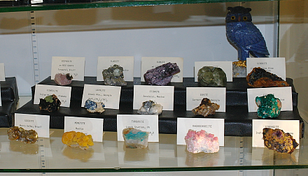 """A home display case featuring some top notch miniatures (miniatures are specimens in a collection of a particular size, typically a size that would fit in a 2-1/2"""" cubed plastic box.)"""
