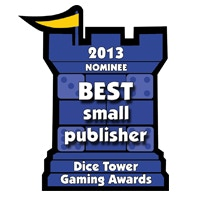 Best Game from a Small Publisher Nominee   -Dice Tower Awards