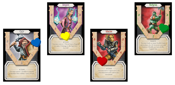 Each Hero brings unique benefits to the party.